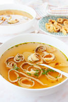 Schaebische Flaedle Suppe