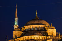 Blue Mosque Domes At Night In Istanbul