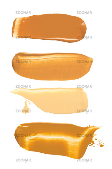 Cosmetic swatches.