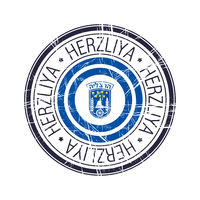 City of Herzliya, Israel vector stamp