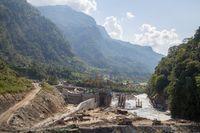 Hydropower plant construction site, Annapurna Region