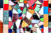 Abstract mosaic grunge background of broken tiles