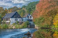 Wipperaue at Wupper River,Bergisches Land,Solingen,Germany