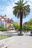 Argentina Cordoba square Velez Sarsfield in the morning