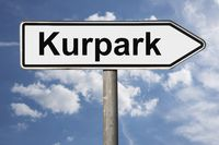 Wegweiser Kurpark | signpost Kurpark (Spa gardens)