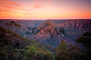Shoalhaven river and mountain views Australia
