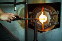 Process of making a blown glass lantern