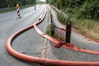 Wasserversorgung bei der Bekämfung eines Grossbrands im Wald