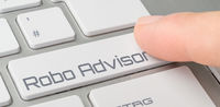 A keyboard with a labeled button - Robo Advisor