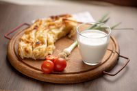 Traditional balkan meal - Burek or Borek pie with cheese