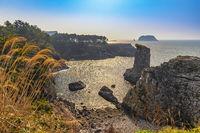 Jeju Island South Korea, nature landscape at Jeju Do Oedolgae Rock