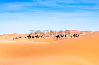 Merzouga in the Sahara Desert in Morocco