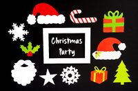 Frame, Christmas Decoration Accessories, Text Christmas Party
