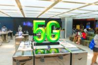 5G sign data concept