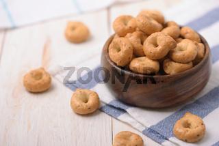 Traditional italian tarallini snack