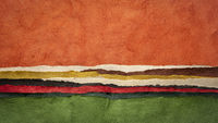 colorful abstract paper landscape