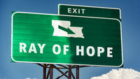 Sign Ray of Hope
