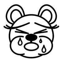 Lustiger Bär - weinend
