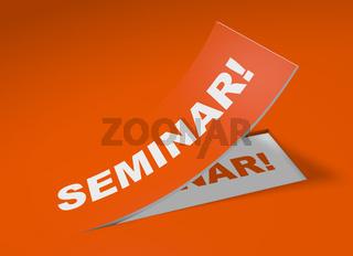 3D Etikett Orange - Seminar