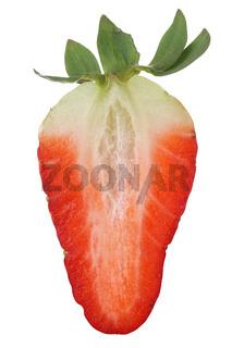 Halbe Erdbeere Frucht Freisteller