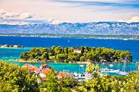 Zadar archipelago. Island of Ugljan waterfront and Galovac view
