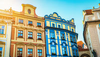 Coloured houses in Prague