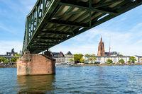 Bridge accross the Main River in Frankfurt