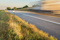 highway in Nebraska Sandhills