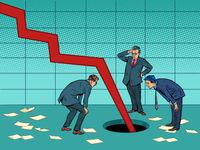 Too fast drop in revenue concept