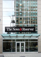 RALEIGH,NC/USA - 01-25-2020: The News and Observer newspaper offices on Fayetteville Street in downtown Raleigh