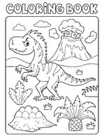 Coloring book dinosaur composition image 4