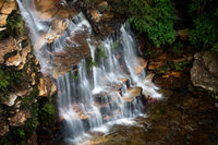 Cascading waterfall in the Blue Mountains