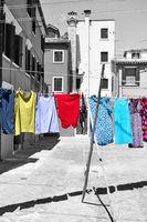 Local colour of Burano island