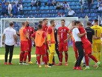 Teamjubel vom Hallescher FC DFB 3.Liga Saison 2020-21