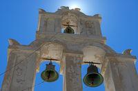 Orthodox Bell Tower In Santorini Island, Greece