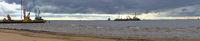 Panorama of Narva Bay at entrance of Nord Stream