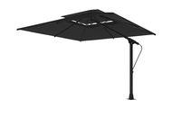 Summer restaurant umbrella 3d render on white background no shadow