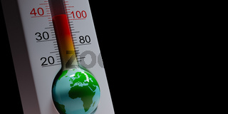 Earth Thermometer, Global Pandemic Concept