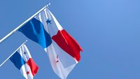 3D rendering of the national flag of Panama waving in the wind