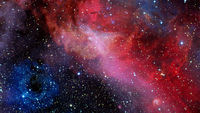 Red nebula in space. Elements of this image furnished by NASA
