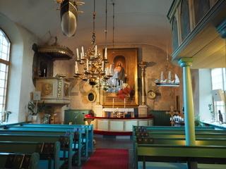 St. Georg Kirche in Geta, Aland, Innenansicht