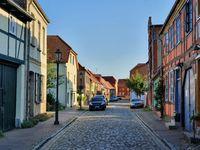 Historic street in Robel, Germany