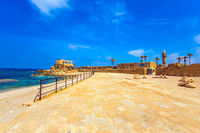 The port in ancient Caesarea