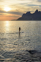 Stand up paddle at sunset