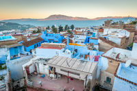 Rooftops of Chefchaouen's Blue City, Medina, Morocco