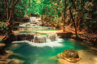 Beautiful waterfall Huai Mae Khamin, Thailand