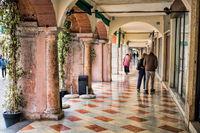 Venice, Italy - 03/17/2019 - Arcades at piazza della liberta