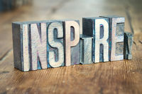 inspire word wood