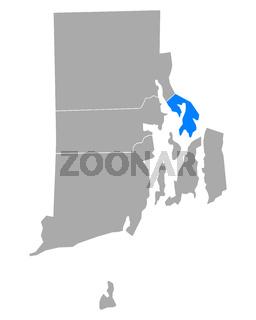 Karte von Bristol in Rhode Island - Map of Bristol in Rhode Island