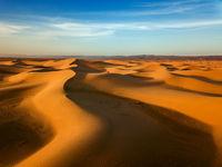 Sand dunes in Sahara desert